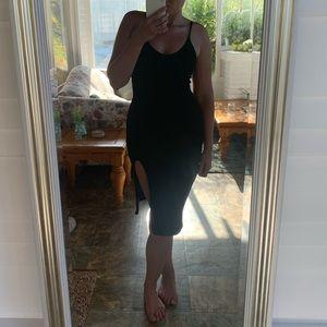 Slit bodycon dress